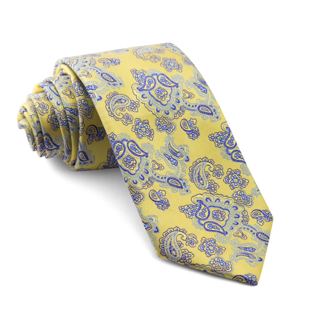 Corbata-Amarilla-Cachemir