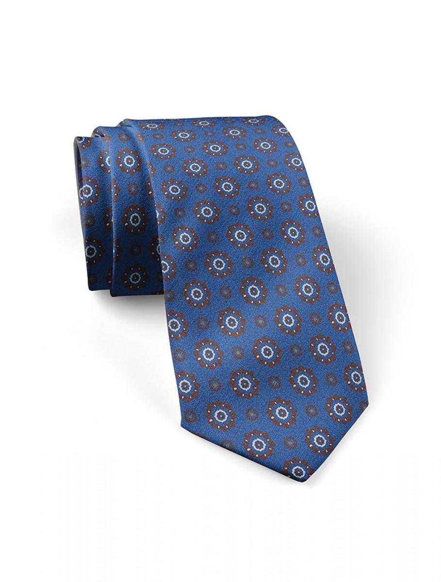 Corbata-Azul-Medallones-Marrones