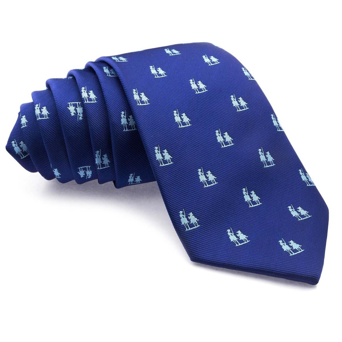 Corbata-Azul-con-dibujos-del-Quijote-en-Celeste