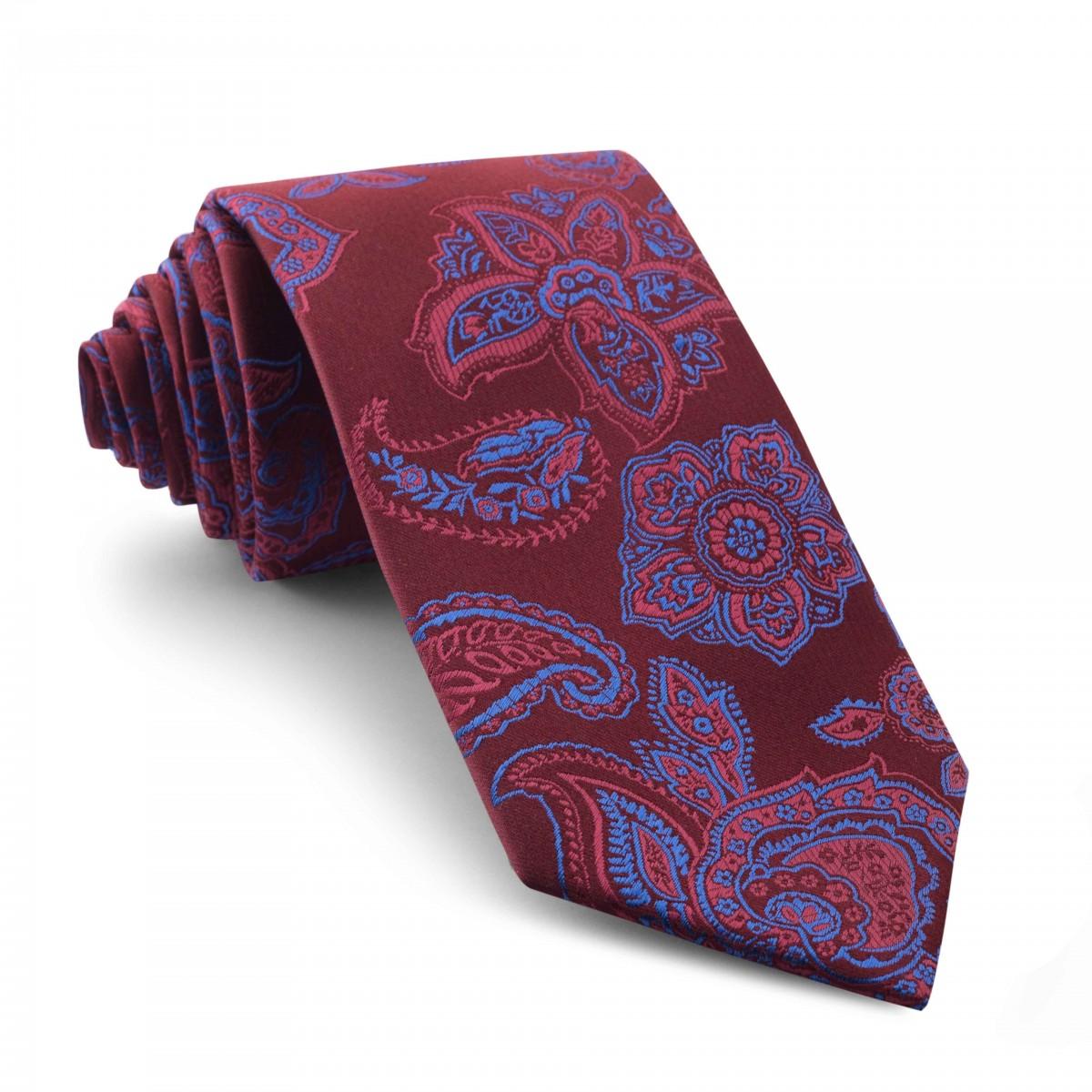 Corbata-Burdeos-Cachemir