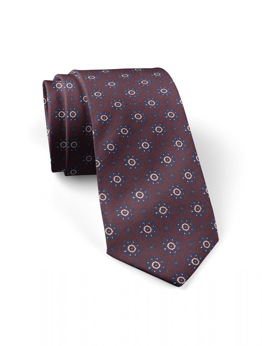 Corbata-Burdeos-Medallones-Azules