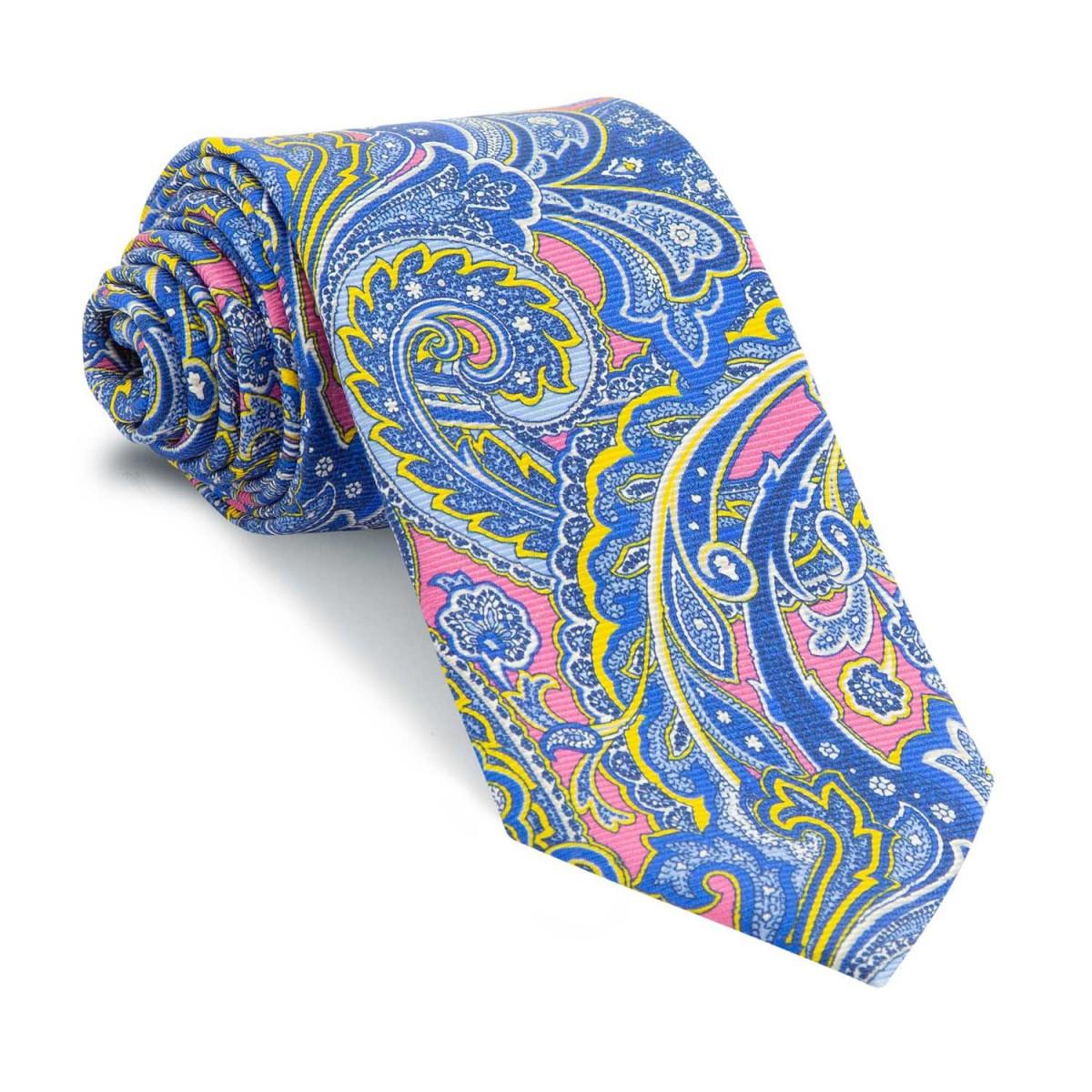 Corbata-Rosa-Cachemires-Azules-y-Amarillos