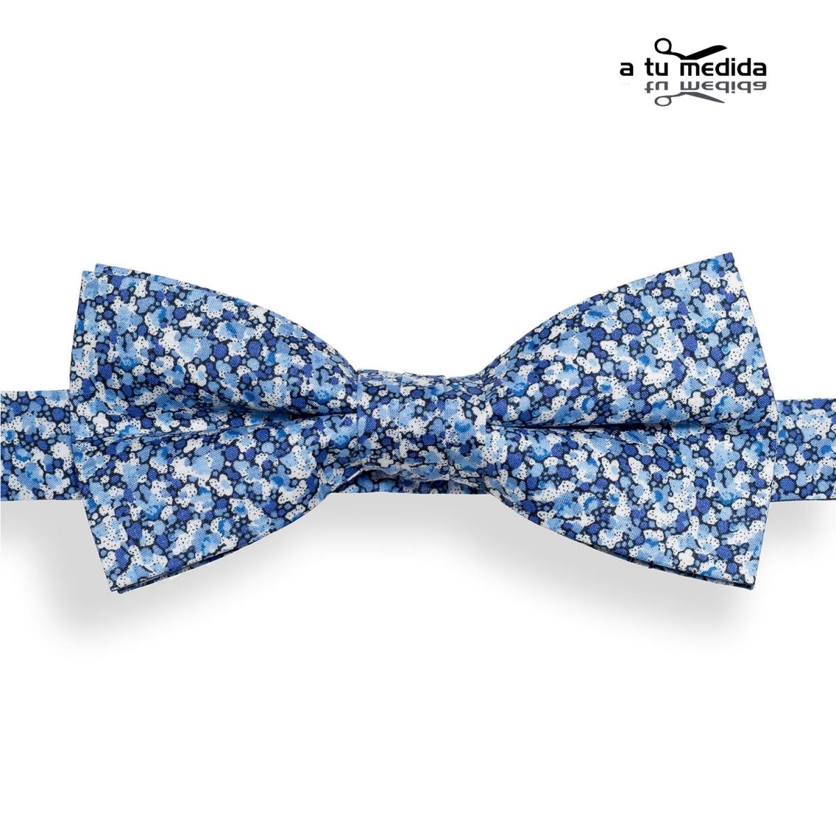 Pajarita-Flores-Azules